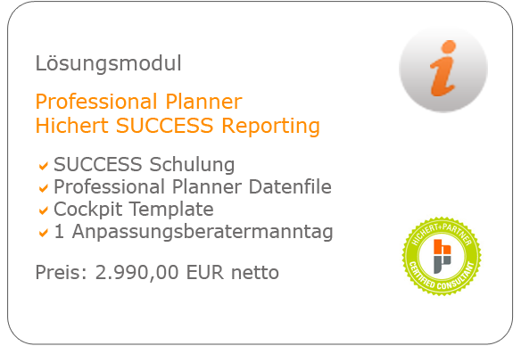 Lösungsmodul Professional Planner Hichert SUCCESS Reporting